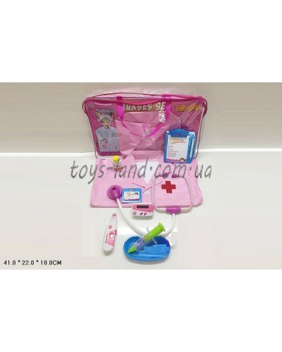 Доктор 2001-08 халат,стетоскоп,шприц,термом,…в сумке41*22*18см