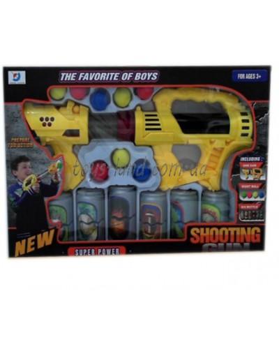Помповое оружие 061-2  шарики, банки-мишени, в кор