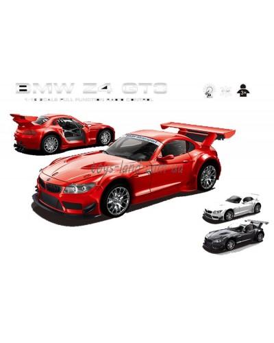 """Машина аккум р/у 866-1812B """"BMW Z4 GT3"""",красн, белая, черн пульт на батар., в кор 37*16*15,5см"""