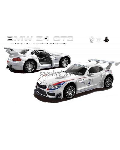 """Машина аккум р/у 866-1812B  """"BMW Z4 GT3"""", белая,пульт на батар.,в кор 37*16*15,5см"""