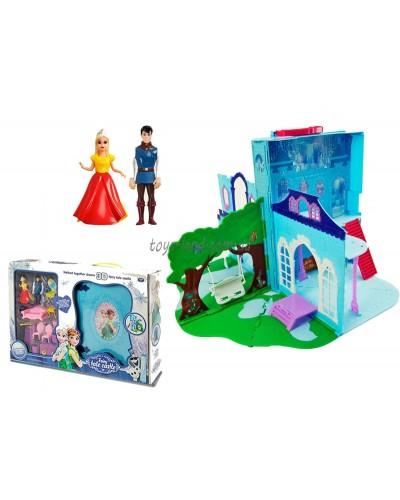 """Замок-чемодан """"Frozen"""" LM2038(LM2348) куколки, мебель, аксесс, в кор.54*10*36см"""
