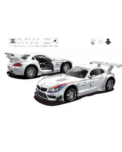 """Машина аккум р/у 866-1412B  """"BMW Z4"""", белая,пульт на батар.,в кор 19*8,2*5см"""
