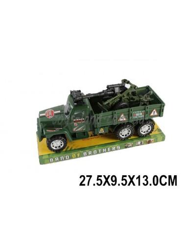 Военная техника инерц. 3310 (1516880)  с пушкой, под слюдой 27,5*9,5*13см