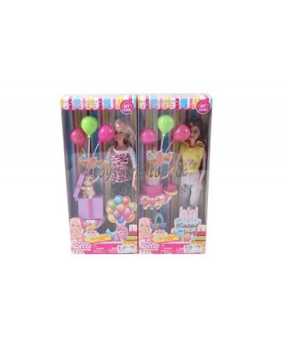 """Кукла типа """"Барби"""" JX600-71B 2 вида, набор для Дня рождения, в кор.15,5*6*35см"""