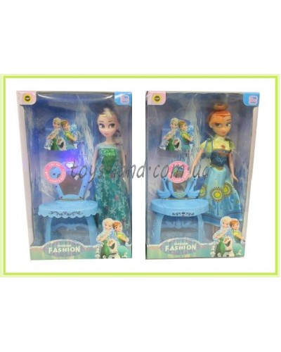 "Кукла ""Frozen Fever"" 829-317 (48шт/2) 2 вида, с трюмо, свет,звук, в кор."