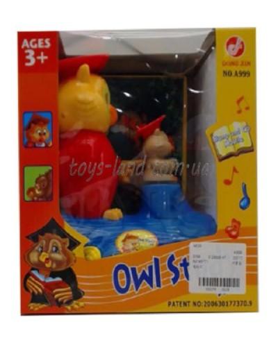 Муз. разв. игрушка A999  Сова, в коробке