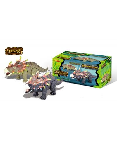 Животные 6632-1 динозавр, свет, звук, ходит, в коробке 25*15.5*15.5