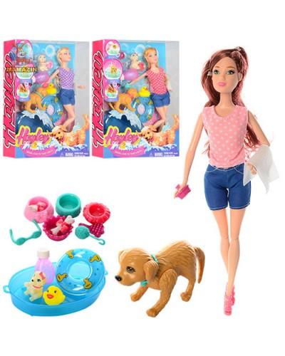 """Кукла """"Barbie"""" HB015 (60шт/2) 3вид,собака отряхивается и виляет хвостом,набор д/купания,кор.33*25*6"""