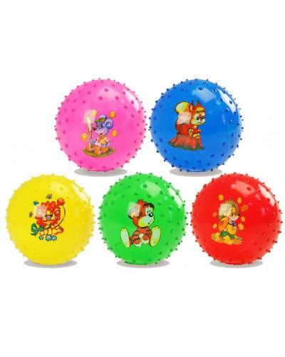 Мяч резиновый R07343  8' 55 грамм, цвета ассорти