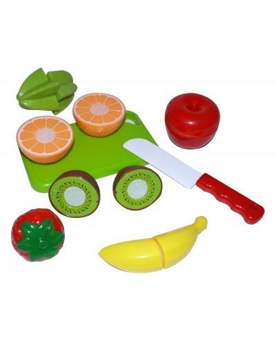 Овощи и фрукты 666-17/19 2вида,делятся пополам,с досточкой,ножом,в пак.