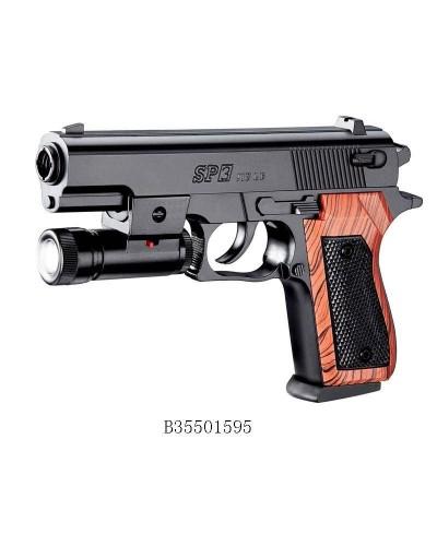 Пистолет SP-3C батар.,свет,пульки в коробке 21*14,5см