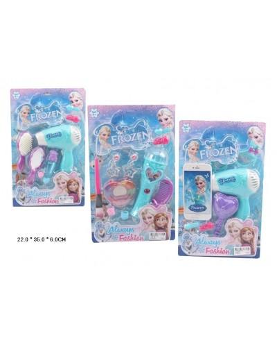 """Аксессуары для девочек """"Frozen"""" V466-4B/5B/1B фен, микроф, расческа, аксесс, на планш.22*6*35с"""