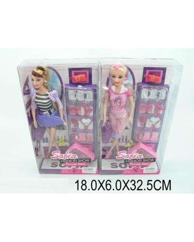 """Кукла типа """"Барби"""" BBL7725, чемодан, украш, расческа, зеркало, в кор.18*6*32,5см"""
