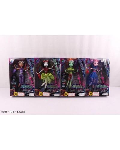 """Кукла """"Monster High""""Electrified"""" 516 4 вида, с зонтом,сумкой, шарнирные, в кор.29*19*5,5см"""