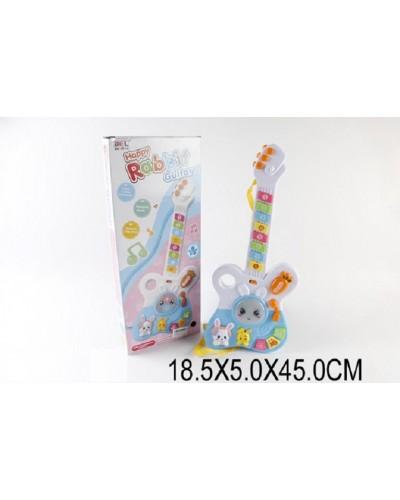 """Гитара-орган 3017 (1528887) """"Весёлый кролик"""" в коробке 18,5*5*45см"""