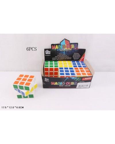 Кубик Рубика 8800-12 6 см, 6шт в дисплее 17,5*12*6 см, цена за дисплей