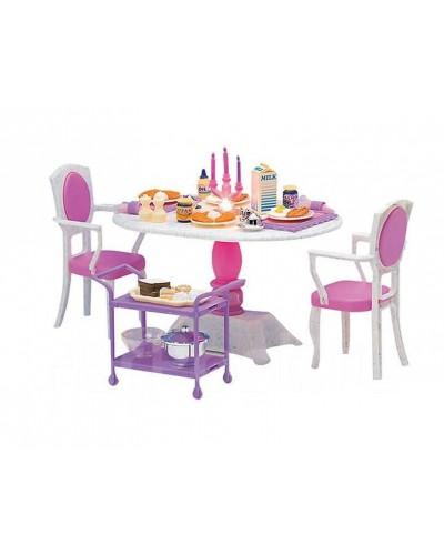 """Мебель """"Jennifer"""" 2832 со светом,  для столовой, стол, 2 стула..., в кор. 30*21*9см"""