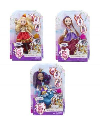 "Кукла ""Ever After High""Powerful Princess Tribe"" EA2166 3в,платье-2в1, шарн, аксес, в кор.22*6*33"