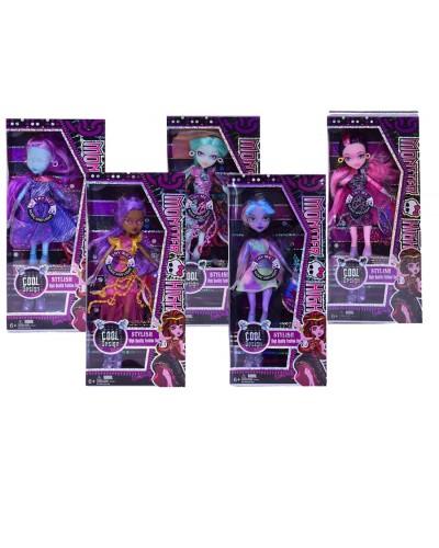 """Кукла """"Monster High""""Кораблекрушение"""" 5025B  5в, шарнир, свет,муз, аксес, в кор.14*5,5*33см"""