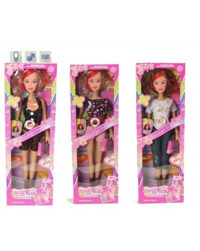 """Кукла типа """"Барби"""" бол. A2286  3 вида, батар., муз., в кор. 60*20*7см"""