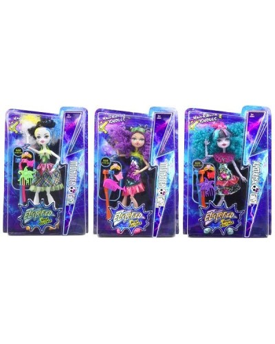 "Кукла ""Monster High""Electrified"" DH2169 3 вида, с расческой, шарнирные, в кор.22*5,5*34см"
