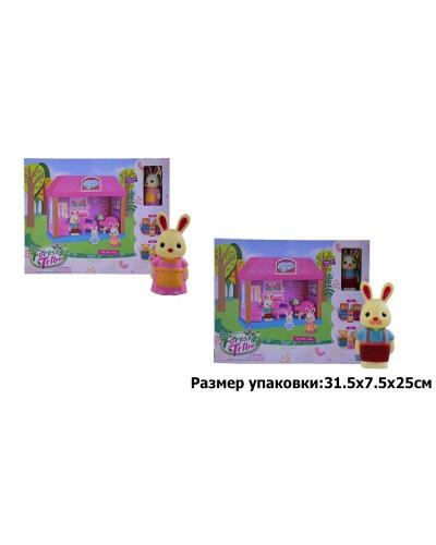 Игровой набор лесные жители60234 гостинная, 2 вида, фигурка, акс-ры в коробке 31,5**7,5*25 см