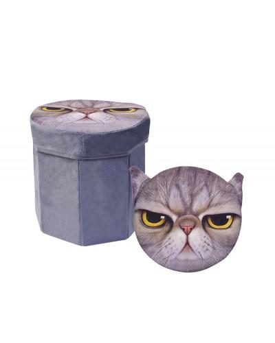 Корзина-пуфик для игрушек 3D-1702 в пакете 30*30*29см