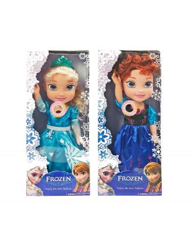 "Кукла ""Frozen"" 9814  батар, 2вида, песня, свет, в кор.38*16*12см"
