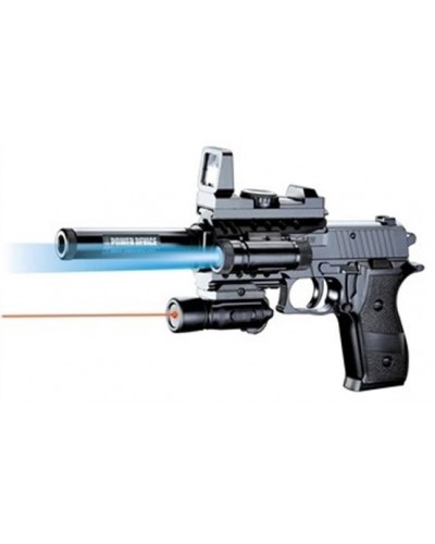 Пистолет P2118-A батар.,пульки,в коробке 26*16см