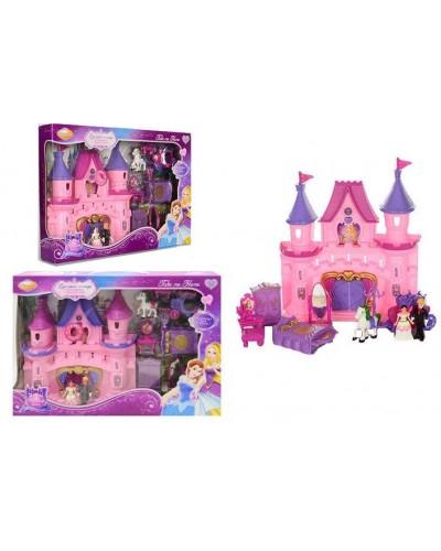 """Домик """"Замок"""" SG-2978 батар, свет/звук, 2 фигурки, мебель,карета с лошадью,в кор."""