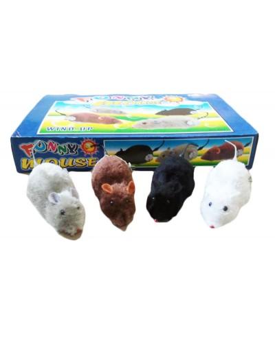 Заводные мыши 601 4 вида,12шт в дисп.боксе