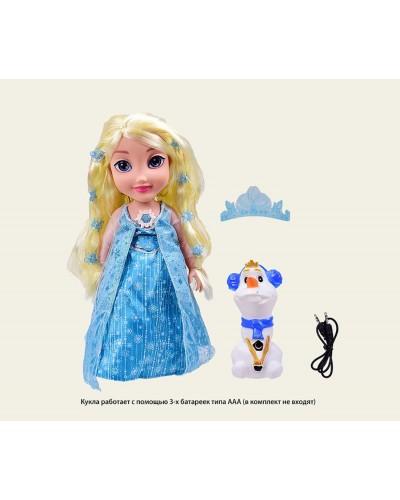 """Кукла """"Frozen"""" 2171L свет волосы,муз,МРЗ,повтор,с аксесс, в кор.35*14*43,5см"""