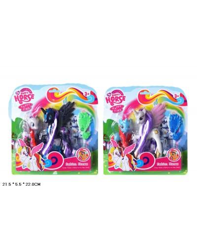"""Пони """"Принцессы Луна и Селестия"""" L-A19-1 2 вида, с аксесс., на планш. 22*6*22см"""