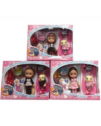 Кукла маленькая 65012 3 вида,с питомцем,сумкой,аксесс,в кор.