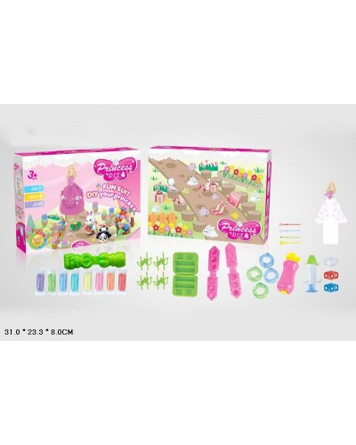 "Набор для творчества пластилин 9262  ""Принцесса"", 8 цветов, формочки, в коробке 31*23,3*8см"