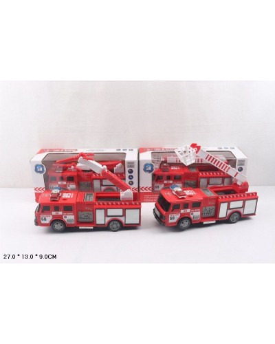 Пожарная техника батар. SD-023D/024D 2 вида, в коробке 27*13*9см