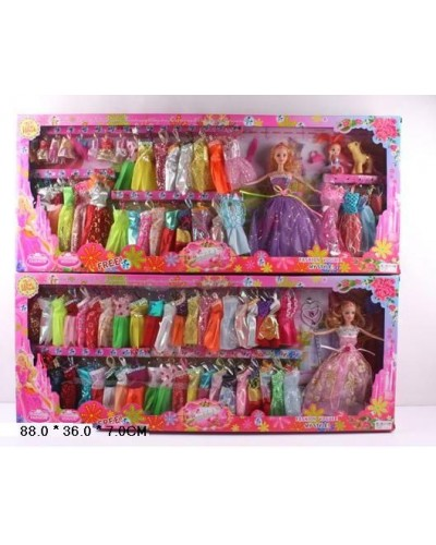 "Кукла типа ""Барби"" 9991-A/B/C 2 вида, с одеждой, аксес, в кор. 88*36*7см"