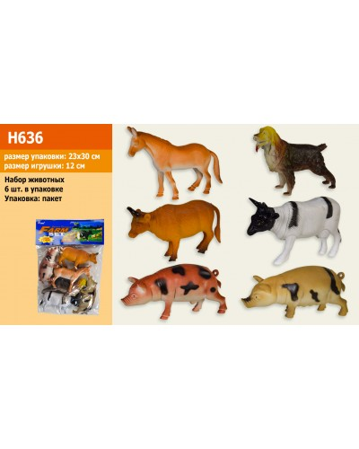"""Животные H636 """"Ферма"""", в пакете.23см"""