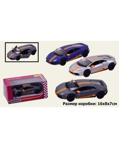 """Машина металл """"KINSMART"""" KT5401W """"Lamborghini Huracan LP610-4 Avio matte """" в короб 16*8*7,5с"""