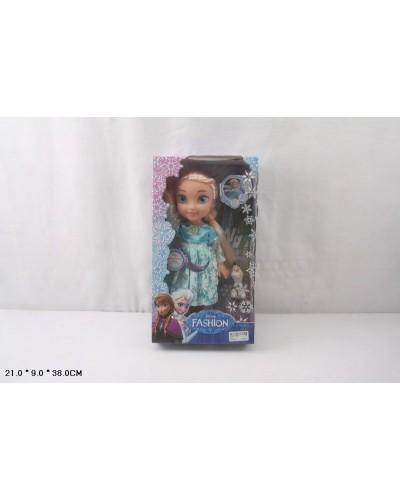 """Кукла """"Frozen"""" 368 муз, со снеговиком, в кор. 21*9*38см"""