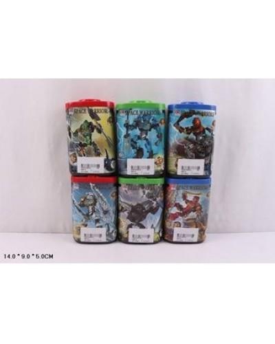 """Конструктор """"Bionicle"""" 998-75 6 видов, в колбе 14*9*5см"""