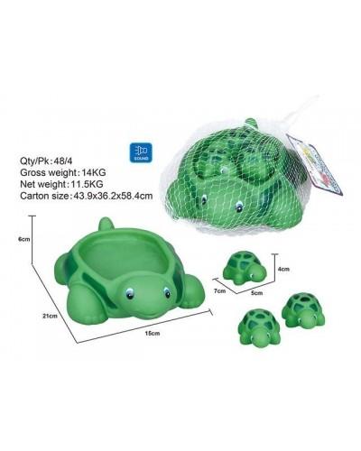 Пищалка OSB9911 черепаха с черапашками, в сетке 15*21*6см