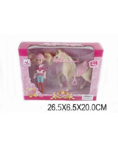 Лошадка 05002A с куколкой, в кор.27*7*20см