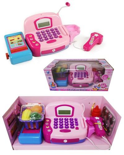 Кассовый аппарат 66029(7148) 2в, свет-зв., сканер, весы, калькулятор, продукты, в кор.38,8*19*16см