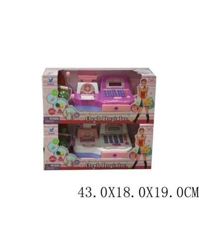 Кассовый аппарат 66028(0845) 2в, свет-звук, сканер, весы, калькулятор, продукты, в кор.43*18*19см