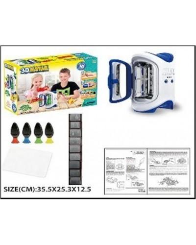 Набор ручка 3D LM111-1 печка для запекания, формочки, 4 цвета ручек, в коробке 35,5*25,3*12,5