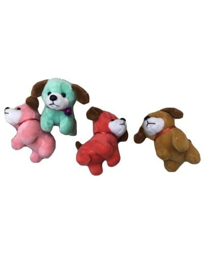 Мягкая игрушка-брелок B24376 собачка 5 видов, в пакете 9 см