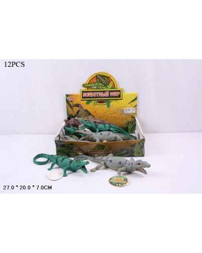 Животные резиновые 7206 Крокодилы, 3 вида, в кор. 28*20*6см