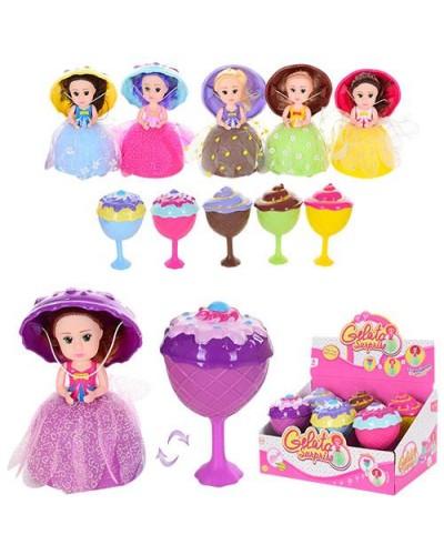 """Кукла """"Gelato Surprise"""" LM2309 6вид, с расческой, превращается в мороженое, в диспл.боксе 16*9*9"""