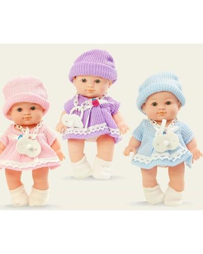 Кукла 12078P 3 вида с соской, в пак.18*33cм